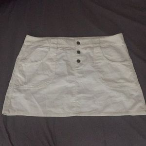 White Corduroy mini skirt